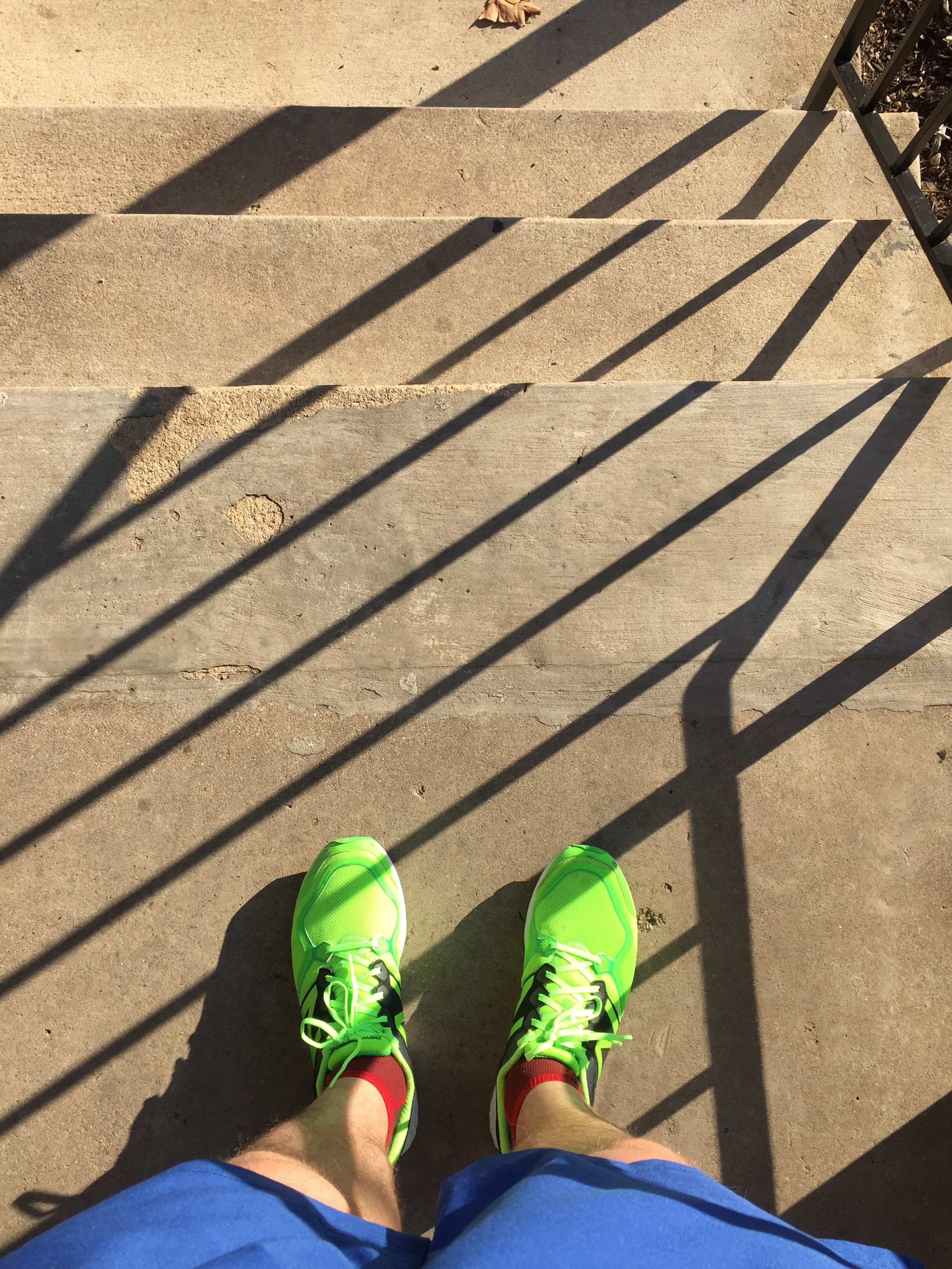 Running Shoes on Stairs